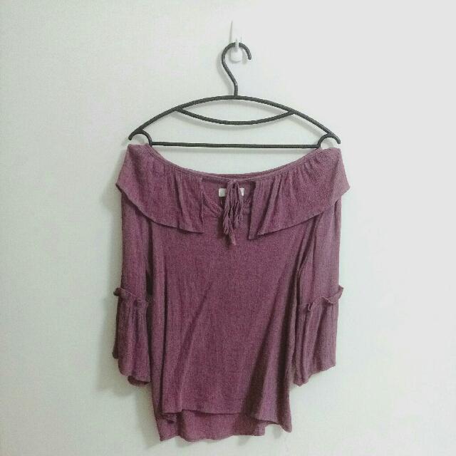 粉紫色 氣質上衣