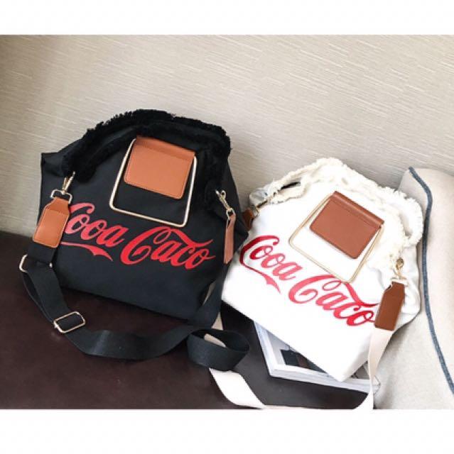 新款韓版手提包包女休閒帆布大包單肩 斜背包