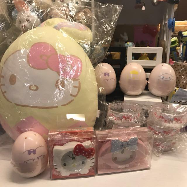 全新 日本三麗鷗雙子星大耳狗布丁狗聯名扭蛋美樂蒂kitty鬧鐘