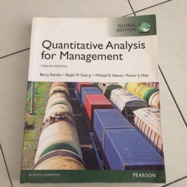 💕 Quantitative Analysis For Management (Pearson)