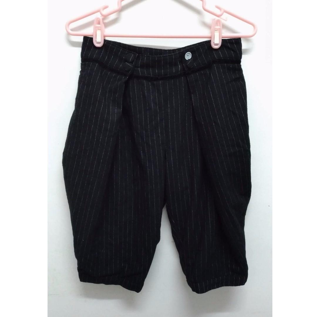 毛料燈籠五分褲(缺一顆包釦) vintage