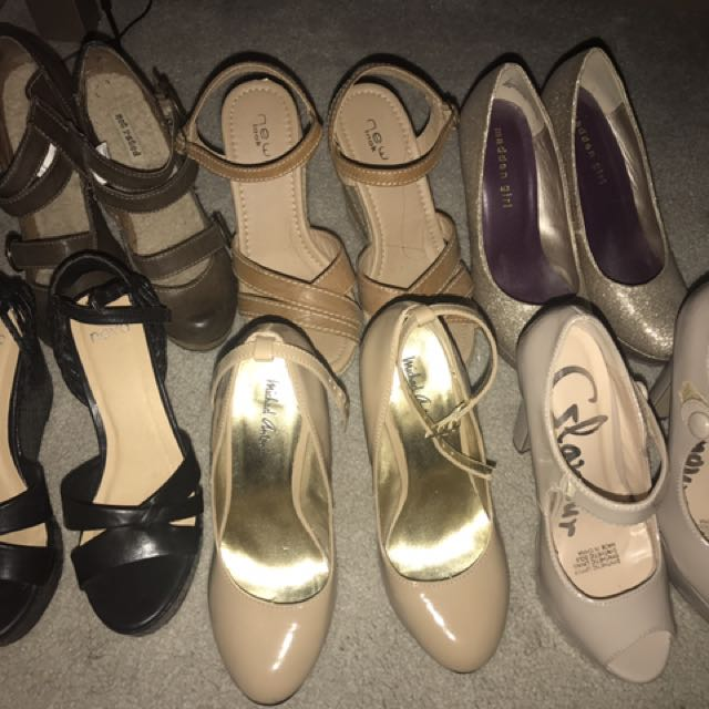 All shoes heels and wedges size 6