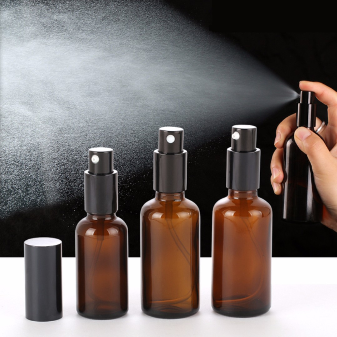 Amber Glass Spray Bottle 10ml 15ml 30ml 50ml