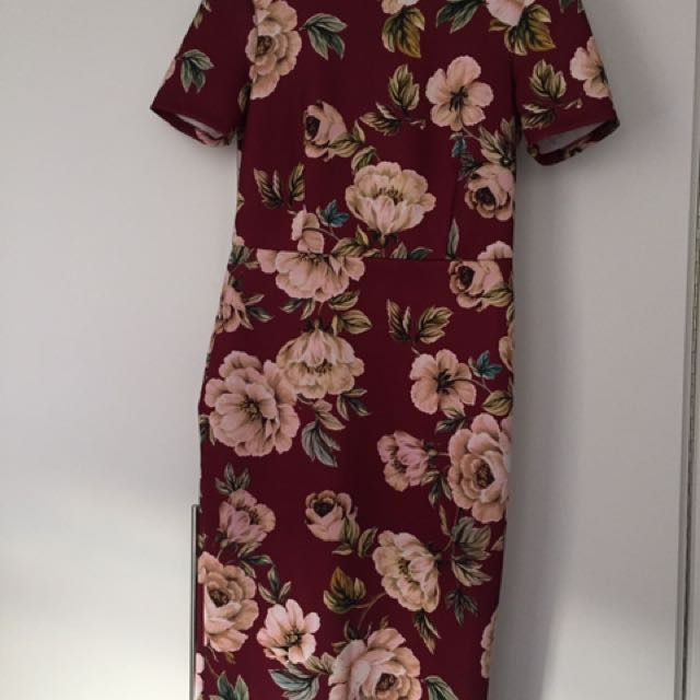 ASOS UK12 Midi Dress Floral Print