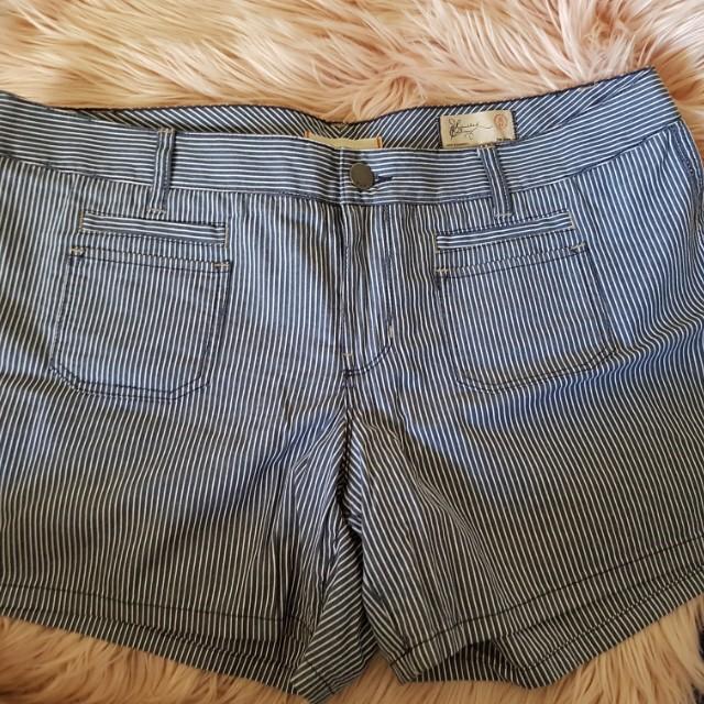 Authentic Gap Jeans Striped Shorts sz US 14/AU 16