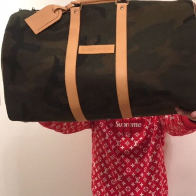 Authentic Limited Supreme X Louis Vuitton Keepall Bag