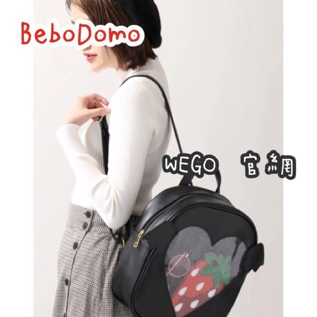 🎀《BeboDomo 》WEGO 正版 透明 惡魔天使後背痛包