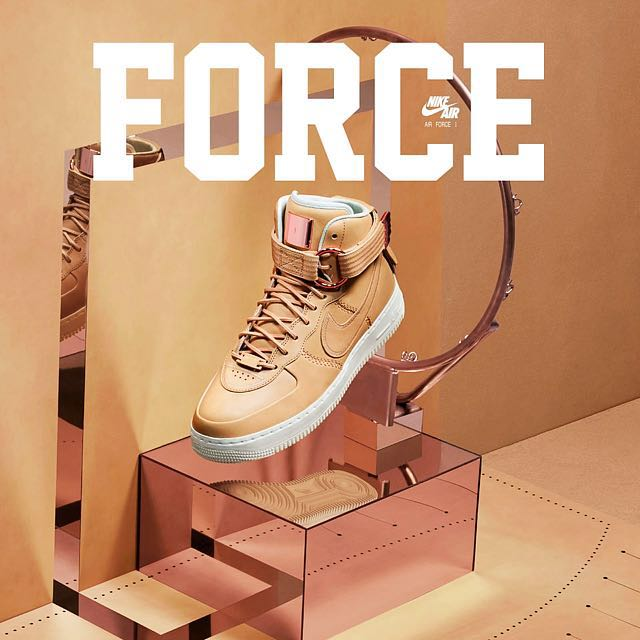 2e7f64aa6b05 Below Retail Nike Vachetta Tan Air Force One High Sports Luxury ...