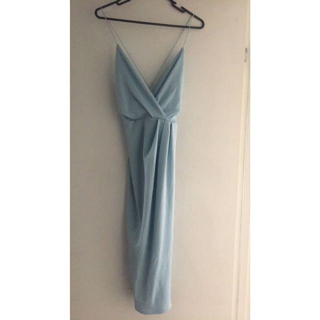 Boohoo Diane wrap detail midi dress