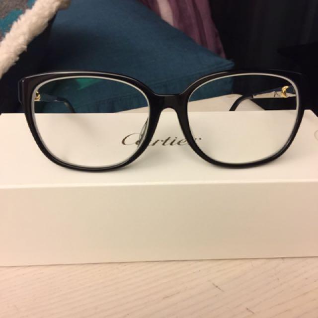 Cartier時尚三環標誌眼鏡,九成九新