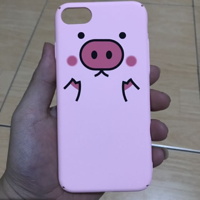 Cases/ Casing iphone 7 or 7 plus - Piggy Pink Cases Girly