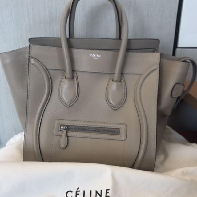 Celine mini luggage with receipt