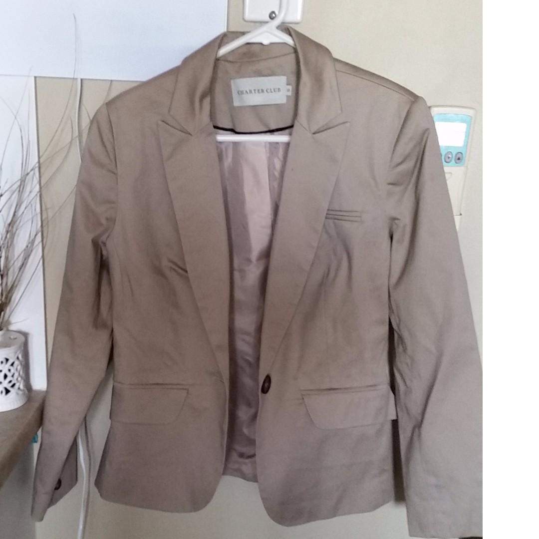 Charter Club International Brand Suit color tan