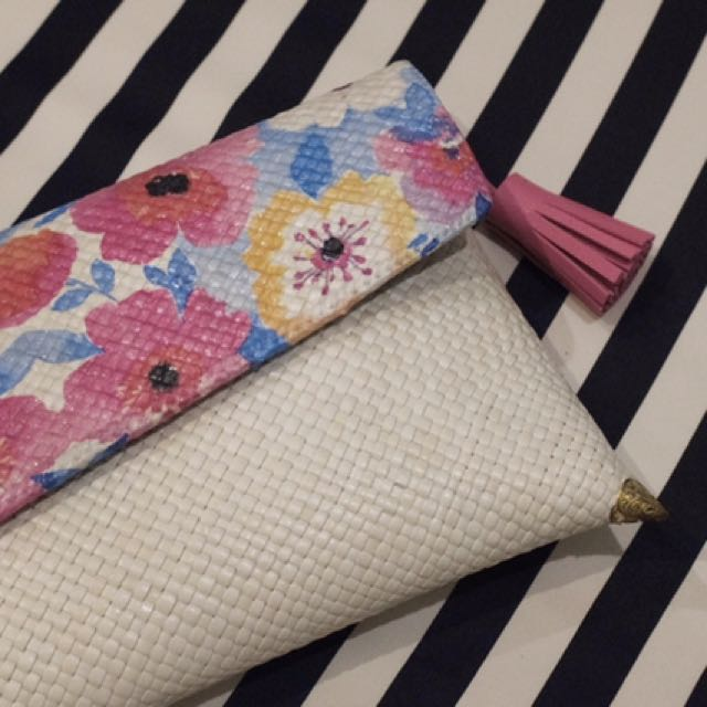 Cherry Blossom decoupage clutch
