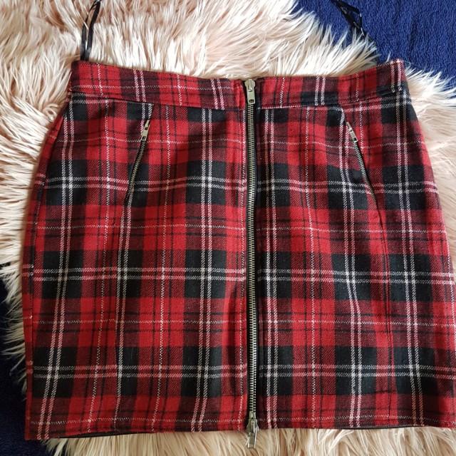 City Chic Checkered Skirt XS