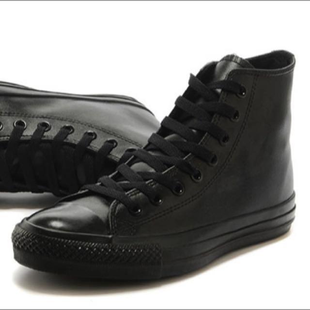 Converse All Star High Black Mono Shoes