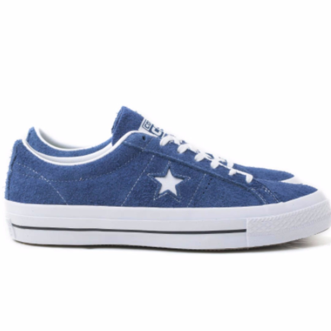7083f24193a ... wholesale converse cons one star hairy suede navy mens fashion footwear  on carousell 2f9ef 99d25