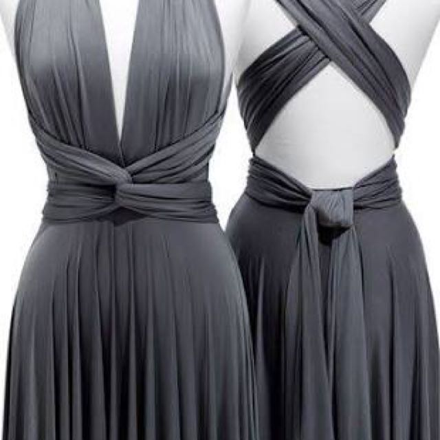 Convertible dress dark gray all size