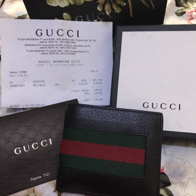 340f4f17b2f083 dompet Gucci original