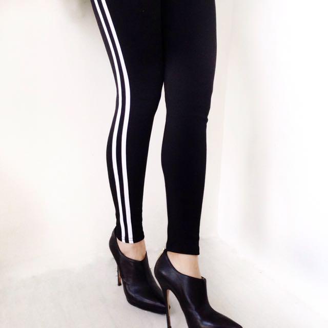 Double side stripe leggings