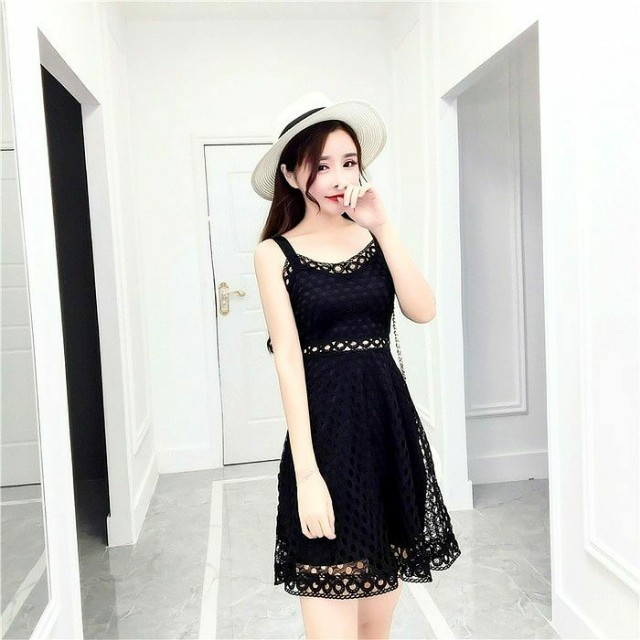Dress Hitam / Baju Hitam / Dress Premium / Black Dress