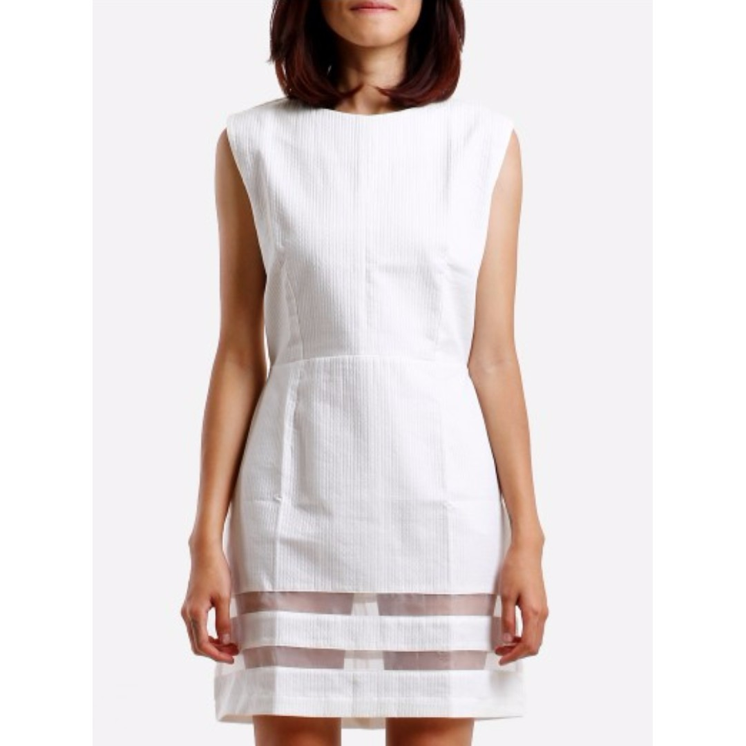 Dress with Sheer Panels L