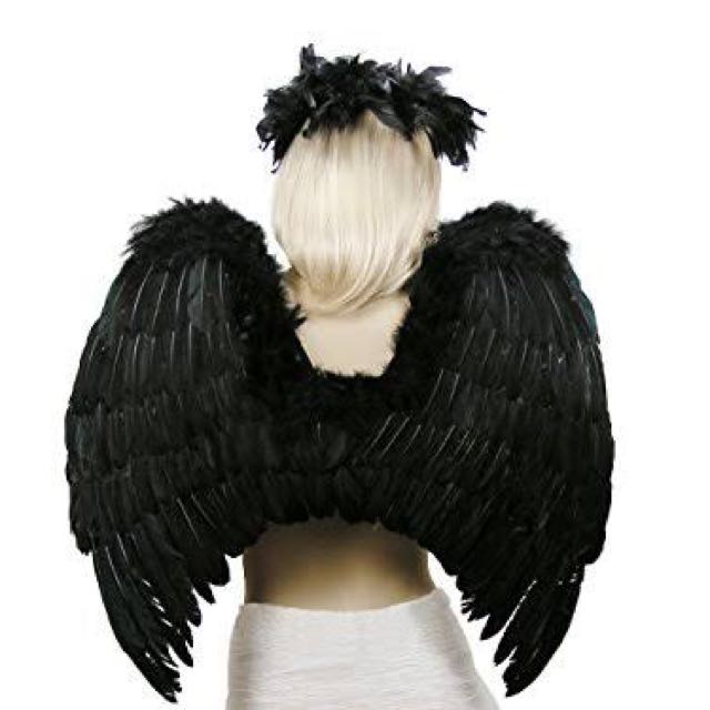 Fallen Angel Wings And Halo Halloween