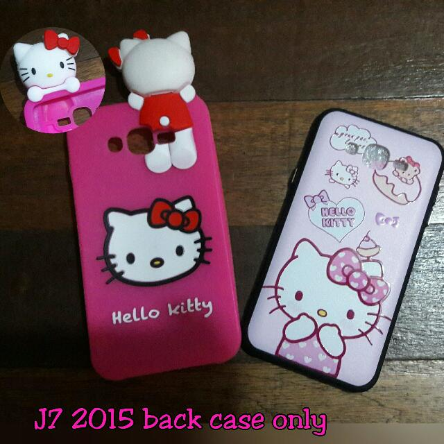 for sale onhand cases 😉  samsung j72015 back case hk w/head - Php 200.00 samsung j72015 hello kitty back case - Php 100.00 get both j72015 case for just 250.00 only! 👌