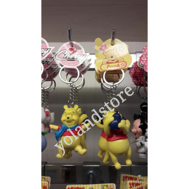 gantungan kunci winni the pooh model 3D