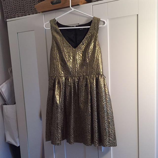 Gold Kensie Dress