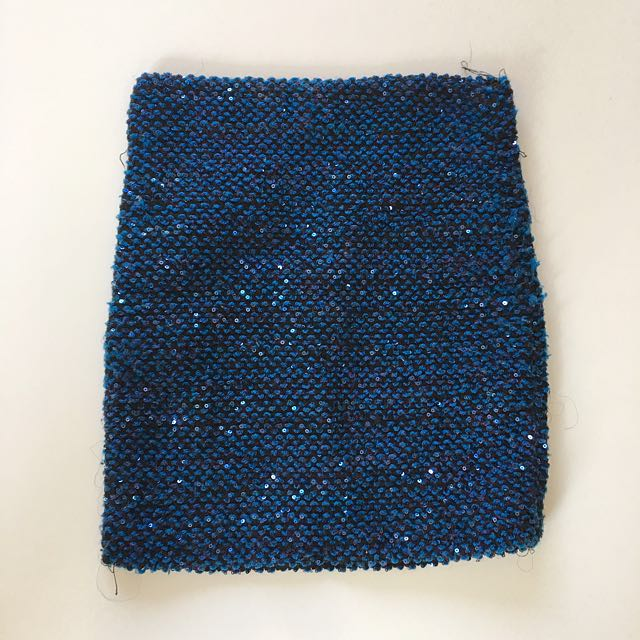 Gorgeous glittering blue mini skirt size 6