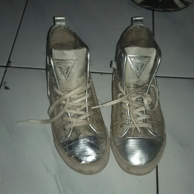 Guess silver white
