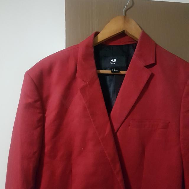 H & M Red blazer xl