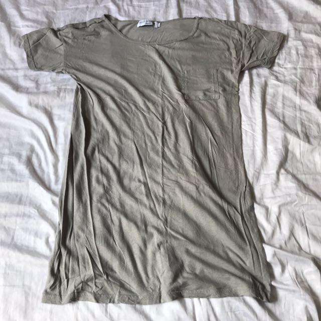 Held In Common t-shirt dress grey