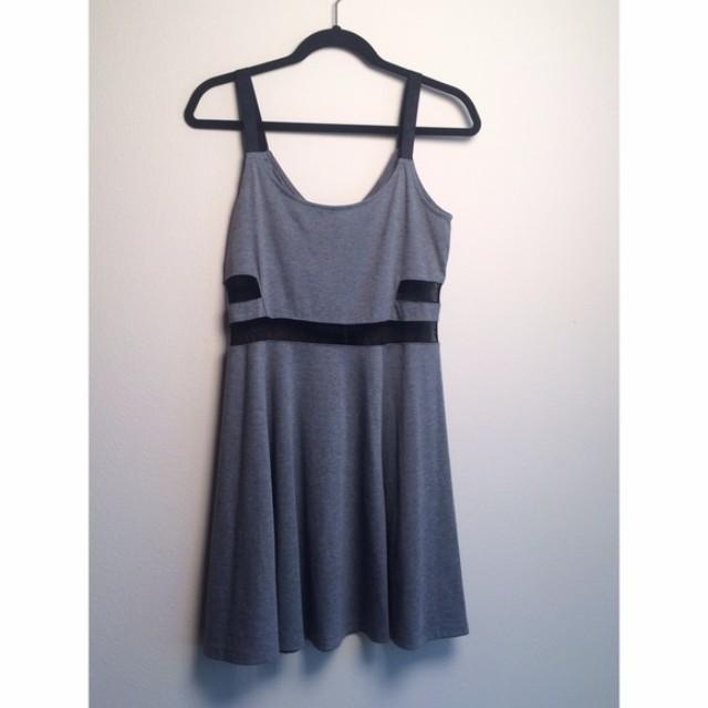 H&M Grey & Black Cut Out Dress