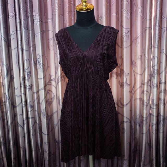 hnm purple dress