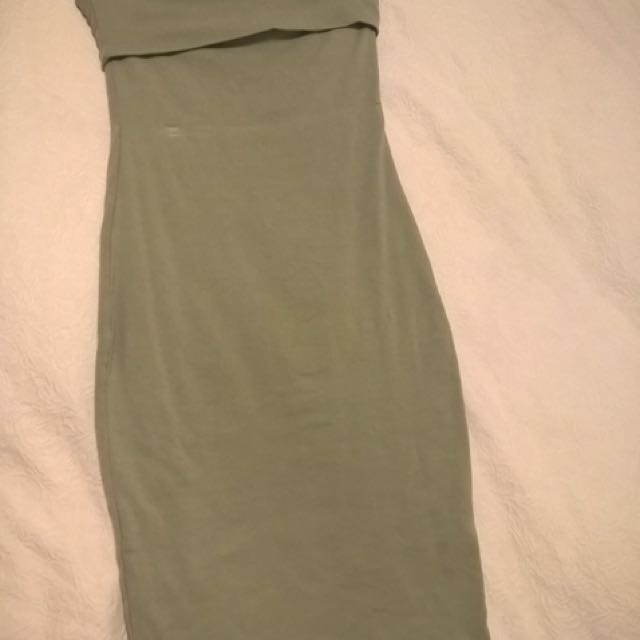 KOOKAI khaki tube dress