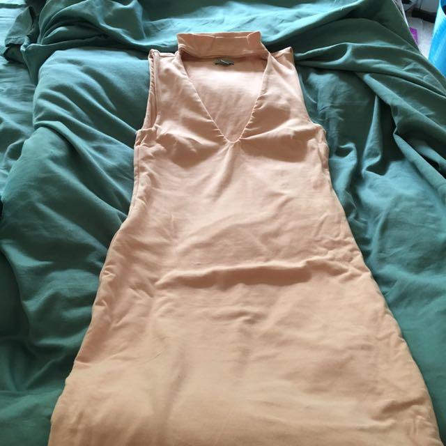 Kookai size 2 Malibu dress in pink midi length