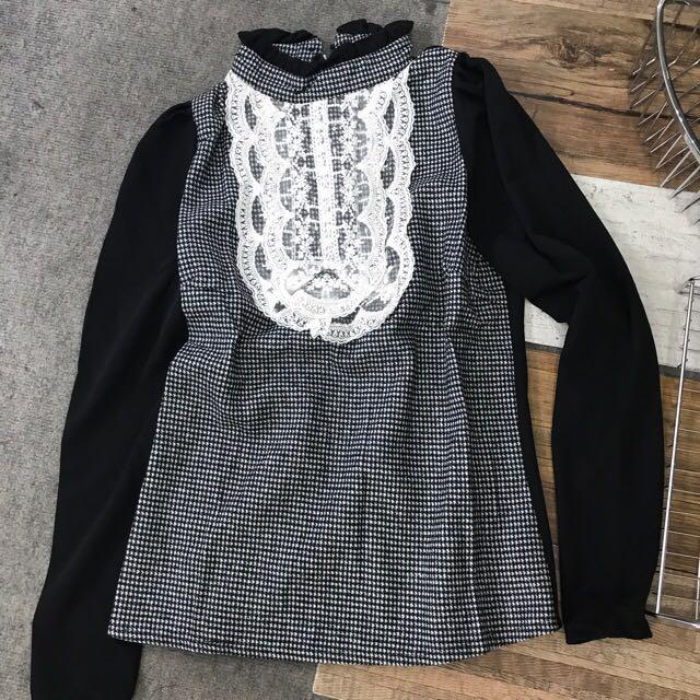 a18b5f3167c341 Korea style half collar Blouse, Women's Fashion, Clothes, Tops on ...