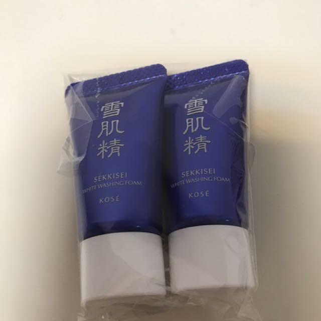 全新.kose高絲雪肌精淨透洗顏霜10g*2條合售