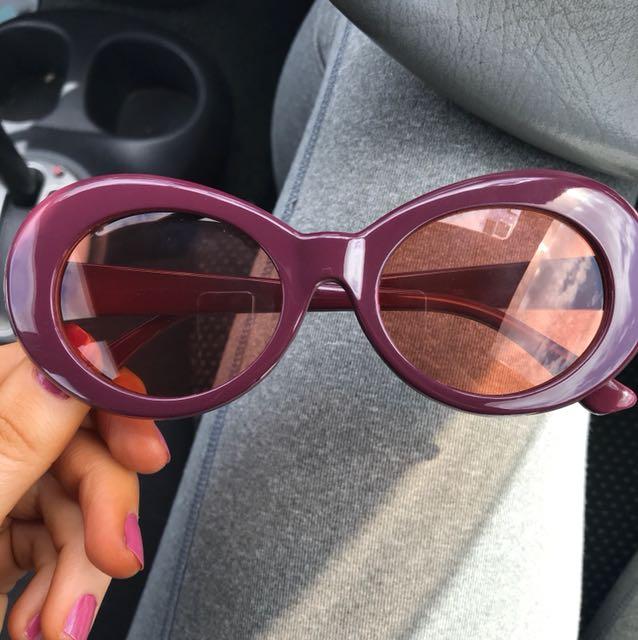 Kurt Cobain glasses w/ orange lens