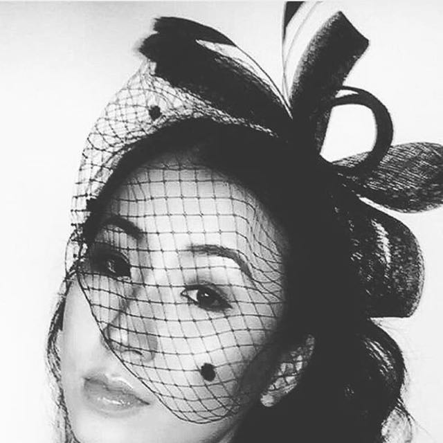 Lovely black lace fascinator
