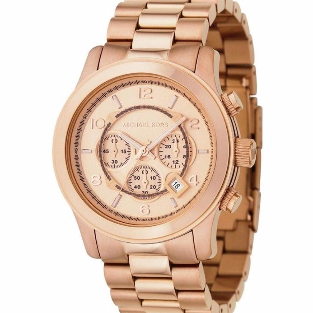 d10a8bb0d136 MK8096 - New Michael Kors Runway Rose Gold Chronograph Stainless ...