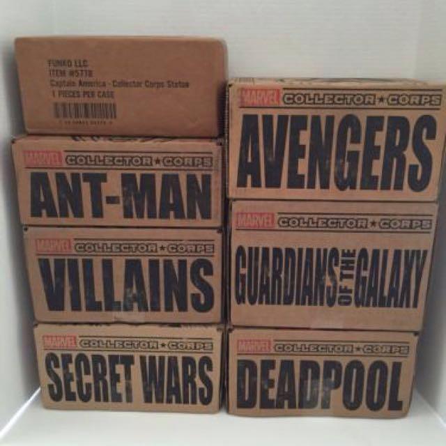[NEED] Marvel Collector Corps - subscription box - empty box - Funko pop - Star Wars