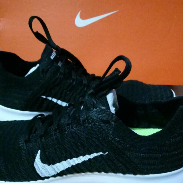Nike Free RN Flyknit Black Fesyen Pria Sepatu Sneakers Di Carousell