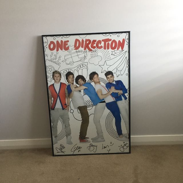 One direction framed poster