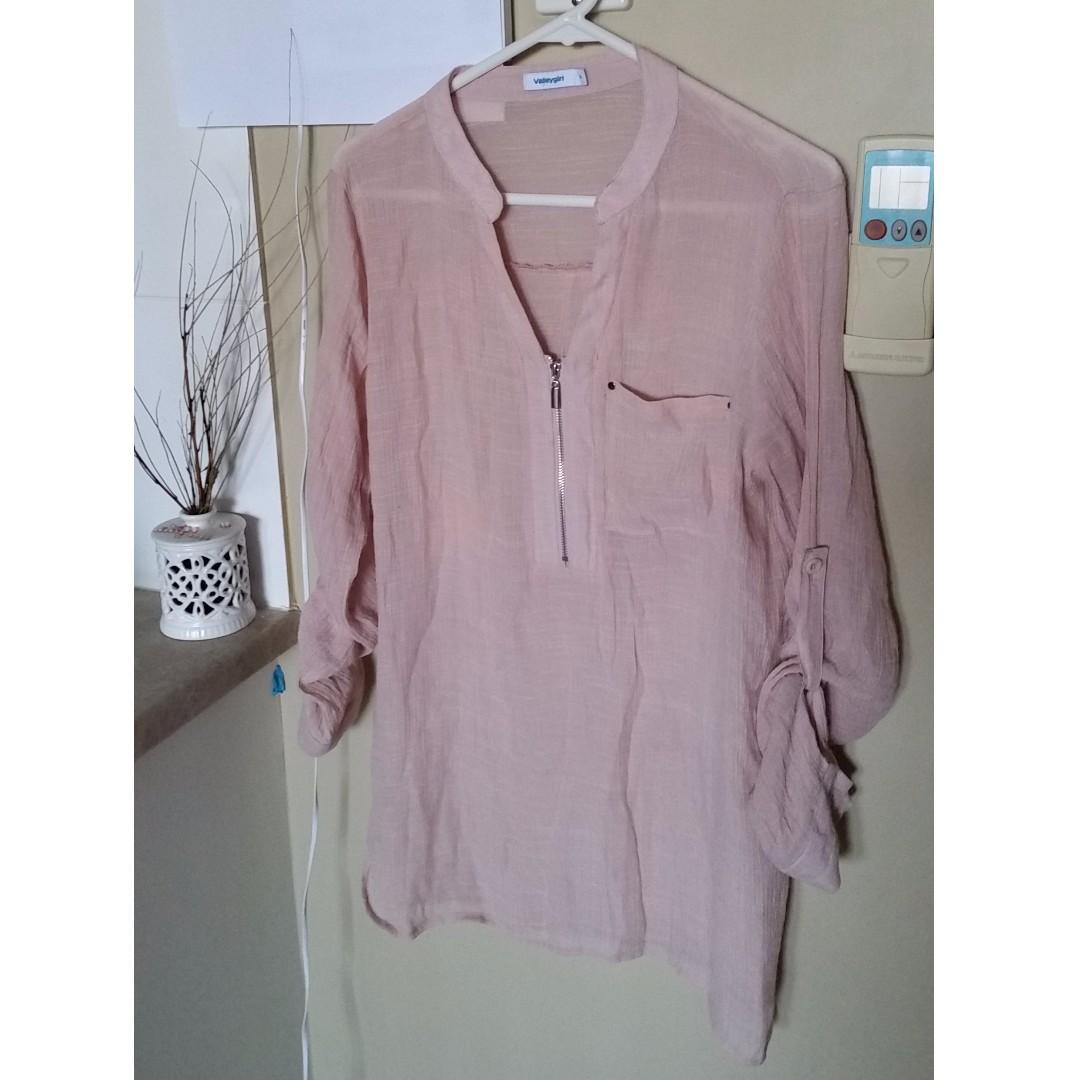 Peach  shirt Valleygirl