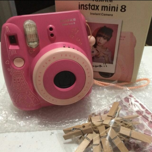 Personalized Pink Instax Mini 8