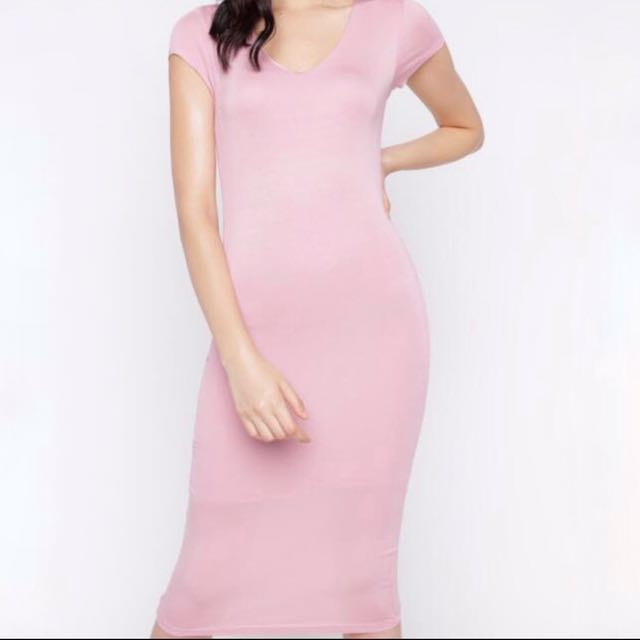Pink Bodycon T-Shirt Dress