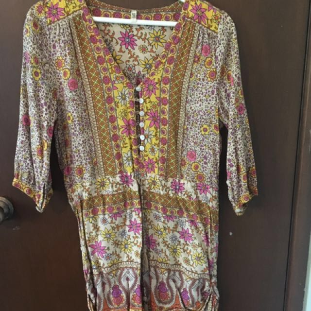 #playsuitsale Spell & The Gypsy Collective Boho Blossom Playsuit in Saffron